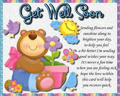 A fun bright and upbeat card to wish anyone get well wishes. Free online Sending Flowers And Sunshine ecards on Everyday Cards Get Well Soon Funny, Get Well Soon Messages, Get Well Soon Quotes, Get Well Wishes, Wishes For You, Get Well Cards, Morning Hugs, Good Morning Cards, Good Morning Wishes