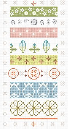 Vintage Pyrex Patterns in Cross Stitch (Sampler Chart) - hancock's house of happy
