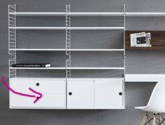 String caisson 2 tiroirs blanc en stock - Etagères design - balouga