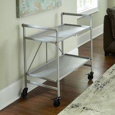 Cosco Indoor/Outdoor Solid Folding Serving Cart | Jet.com