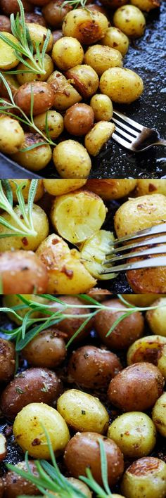Rosemary Roasted Potatoes – the easiest and best roasted potatoes with garlic, rosemary and butter. A perfect side dish for everything | rasamalaysia.com