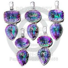 Indian handmade 92.5 Sterling Silver Hallmarked Certified Wholesale natural semi precious studded beautiful handcrafted Cut Pendant Mystic Topaz stone used. per piece weight - 16 to 22 gm approx. Price120 $USD