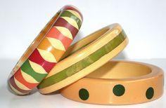 Bakelite bangle bracelets