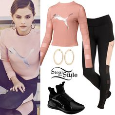 pop singer and actress Selena Gomez Shoes, Selena Gomez Outfits, Selena Gomez Style, Sporty Outfits, Stylish Outfits, Cute Outfits, Tomboy Fashion, Fashion Outfits, Tomboy Style