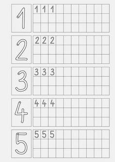 Attività matematica: le schede dei numeri - Lernstübchen: Ziffern schreiben ....