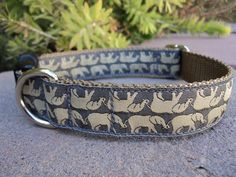 "1"" Dog Collar Adj. Quick Release - Elephant Reflections - Sm, Med or Lge (Or as a Martingale)"