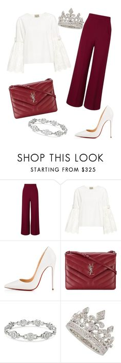 """""""Untitled #288"""" by jovanaaxx on Polyvore featuring Roland Mouret, Sea, New York, Christian Louboutin, Yves Saint Laurent and Garrard"""