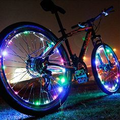 Bike Reflectors - Super Cool LED Bike Wheel Frame Lights  New Product righten Your Bicycle Spokes Rims  Tires for Safety Fun  Style  Fast Easy Install Uelfbaby *** You can find more details by visiting the image link.