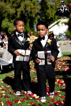 I need help finding suits/tuxes for the little ones...