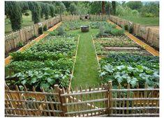 Farm Gardens, Outdoor Gardens, Dream Garden, Home And Garden, House Garden Design, Urban Garden Design, Garden Houses, Potager Garden, Fenced Garden