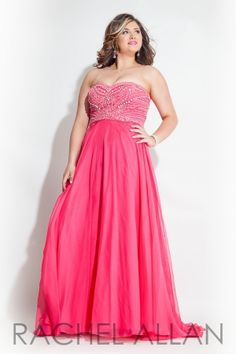 Chiffon A-line gown with beaded bodice. Order today by calling Everything for Pageants at 1-815-782-8877 and ask for our current promotions.