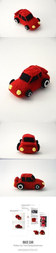 Race Car Amigurumi Pattern Hobbies And Crafts, Crafts For Kids, Crochet Projects, Sewing Projects, Crochet Sock Monkeys, Cupcake Dolls, Flying Dutchman, Small Animals, Amigurumi Patterns