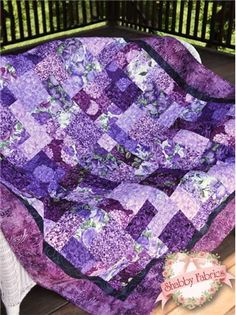 """Easy as ABC & 123 Pattern: An excellent choice for a beginner project, Easy as ABC & 123 is a color-coded, fat quarter friendly pattern which uses just one block to create an intriguing design.  Instructions for six sizes are included: Crib (35"""" x 53""""), Lap (57"""" x 75""""""""), Twin (78"""" x 96""""), Full (88"""" x 97""""), Queen (99"""" x 99""""), and King (108"""" x 108"""").  This Shabby Fabrics pattern was designed by Jennifer Bosworth."""