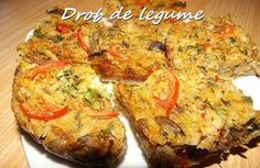 Vegetarian Recipes, Cooking Recipes, Romanian Food, Raw Vegan, Baked Potato, Quiche, Healthy Life, Food And Drink, Vegetables