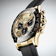 New Rolex Cosmograph Daytona Watches In Gold With Oysterflex Rubber Strap & Ceramic Bezel For 2017 Watch Releases Rolex Daytona, Daytona Watch, Rolex Cosmograph Daytona, Rolex Oyster Perpetual, Oyster Perpetual Cosmograph Daytona, Army Watches, Cool Watches, Rolex Watches, Luxury Gifts For Men
