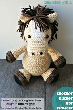 Lucky the Amigurumi Horse - Designed by Little Muggles Part of the Crochet Bucket List Project