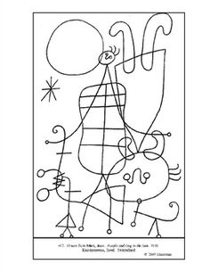Did this this year. Doing it again next year. printable coloring page Miro Printable Coloring Pages, Colouring Pages, Joan Miro Paintings, Art Handouts, Artist Project, Spanish Art, Art Worksheets, Ecole Art, Art Club