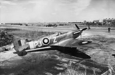 Supermarine Spitfire Mk.VB, PJ-Z of 'B' Flight, No. 130 Squadron RAF, in dispersals on the eastern side of the airfield at Ballyhalbert, the aircraft was flown by Free-French pilot, Lt Jacques Andrieuz.