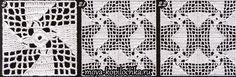 filet crochet squares