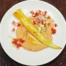 Peperoni Friggitelli und Zucchini mit Caponata