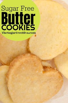 I love butter cookies! This recipe is for making homemade sugar free butter cookies! I love butter cookies! This recipe is for making homemade sugar free butter cookies! Sugar Free Deserts, Sugar Free Treats, Sugar Free Cookies, Sugar Free Recipes, Keto Cookies, Homemade Cookies, Diabetic Cookies, Healthy Sugar Cookies, Sugar Free Muffins