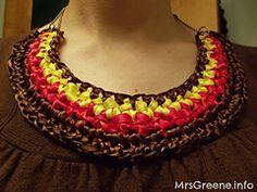 Ravelry: Crocheted Ribbon Bib Necklace pattern by Rhonda Greene