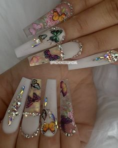 "Edgar Pachek - Nails Art on Instagram: ""Tuesday 🦋 🦋🦋🦋🦋 ———————————————————-🌟 🌴🌤 🌴🌿today 🌸🌺 ✌️. ❤️🧿 . @pachekedgoficial ——-———— @fendi 🦾🦾🦾🦾🦾🦾🦾. —- #dopenails #dopenailtech…"" Bling Acrylic Nails, Summer Acrylic Nails, Best Acrylic Nails, Bling Nails, Coffin Nails, Gel Nails, Zebra Nails, French Acrylic Nails, French Nails"