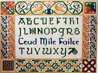 Alphabet Sampler Cross Stitch Chart by Countess Designs