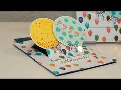Ziehkarte zum Geburtstag - Stampin\' Up! - YouTube