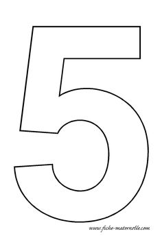 number 5 template Crafts and Worksheets for PreschoolToddler and Kindergarten Number Template Printable, Number Templates, Alphabet Templates, Numbers Kindergarten, Numbers Preschool, Preschool Crafts, Kindergarten Worksheets, Number 5 Cake, Imprimibles Baby Shower