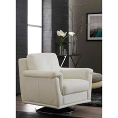 Diva Leather Swivel Chair from Domayne Online