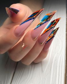 Bad Nails, Edge Nails, Exotic Nails, French Nail Art, Nail Forms, Nail Art Videos, Almond Nails, How To Do Nails, Pretty Nails