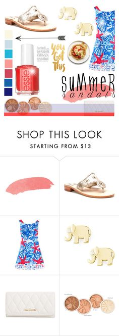 """The Cutest Summer Sandals"" by littledesigns ❤ liked on Polyvore featuring Jack Rogers, Sydney Evan, Vera Bradley and Essie"