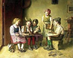 Edmund Adler (Austrian ) - What Will His Answer Be - Playing School