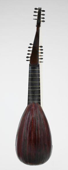 Lute, Pietro Railich, Padua, 1669.  Made from snakewood, ebony, spruce