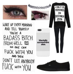 """""""load up ur six-shot baby"""" by paytonluvs5sosbvbmde ❤ liked on Polyvore featuring Vans and Wet Seal"""