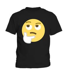 Skeptischer Smiley / Skeptical Emoji  #birthday #october #shirt #gift #ideas #photo #image #gift #costume #crazy #nephew #niece