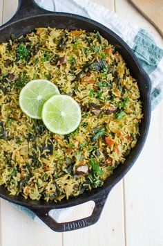 Healthy spinach rice loaded with proteins, fibers and vitamins. It is a one pot…