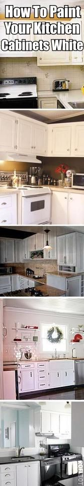 How To Paint Kitchen Cabinets White (best primer, how to sand/prep etc. Great Tips!)
