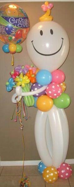 Welcome!! Escultura de balões...