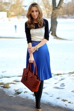 adorable... love that midlength pleated skirt