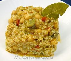 Bulgur con pisto y garbanzos Quinoa, Fried Rice, Feel Good, Macaroni And Cheese, Grains, Healthy Recipes, Healthy Food, Yummy Food, Ethnic Recipes