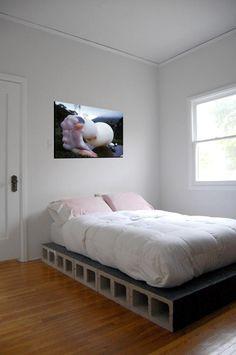 cinder blocks bed