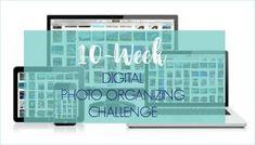 Ready to tame the digital photo chaos? Take the Digital Photo Organizing Challenge! 30 Days Photo Challenge, Challenge Week, Foto Fun, Life Organization, Organizing Life, Organising, Book Projects, Photo Displays, Organizer