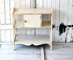 antiquing effect on white painted furniture Petticoat Junktion