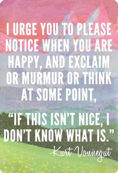 appreciate happiness