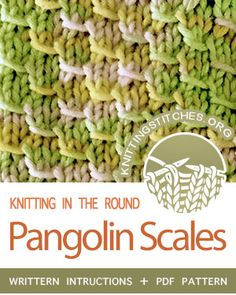 Pangolin Scales in the round 2019 Circular Knitting Pangolin Scales stitch pattern. Techniques Used: Working in the round knitting purling and yarn over. The post Pangolin Scales in the round 2019 appeared first on Knit Diy. Circular Knitting Patterns, Knitting Stiches, Knitting Kits, Knitting Charts, Loom Knitting, Knitting Room, Knitting Ideas, Knit Stitches For Beginners, Beginners Knitting Kit