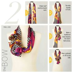 Scarf tying - the Bow Knot
