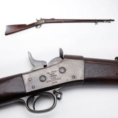 US Navy Remington Rolling Block Rifle - Remington licensed Springfield Armory to manufacture just over 22,000 .50 caliber rifles for a US Navy contract during 1870-71. The first 10,000 rifles were outright rejected by the Navy & wound up being later sold to France, just in time for the Franco-Prussian War. In 1889, the Navy decided to have Winchester convert about 100 rifles from their remaining stockpile to .22 caliber for training purposes. At the NRA National Firearms Museum in Fairfax…