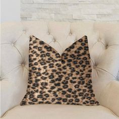 Outdoor Throw Pillows, Decorative Throw Pillows, Luxury Throws, Throw Pillow Sets, Lumbar Pillow, Cheetah, Black And Brown, Classy, Size 16
